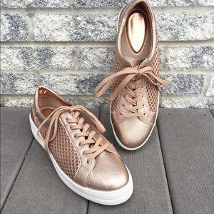 NWOT Steven Natural Comfort Rose Gold Napa Sneaker